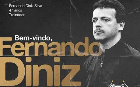 Oficializado, Fernando Diniz vai estrear no comando do Santos contra o Boca Juniors