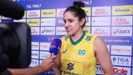 Natália, ponteira da seleção feminina brasileira de vôlei
