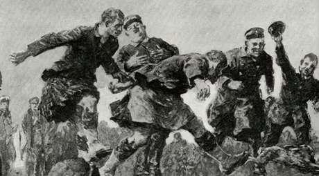 Em algumas partes da 'Terra de Ninguém', como era chamado o território entre as trincheiras, houve até partidas de futebol