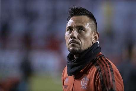 Diego Alves apresentou fibrose na coxa direita (Foto: Alexandre Vidal/Flamengo)