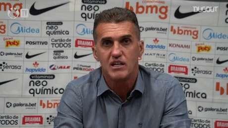 Mancini venceu a sua primeira partida com o Corinthians, na Sul-Americana (Foto: Reprodução/Corinthians TV)