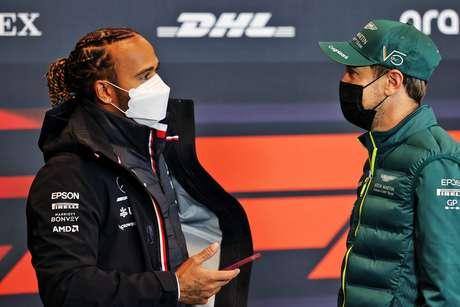 Vettel ressaltou a boa relação que tem com Hamilton