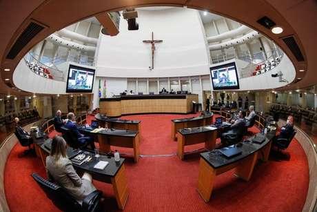 Plenário da Assembleia Legislativa do Estado de Santa Catarina nesta sexta-feira, 7