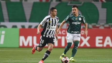 Os rivais Palmeiras e Santos brigam por objetivos distintos na reta final do Paulista (Divulgação / Twitter Santos)