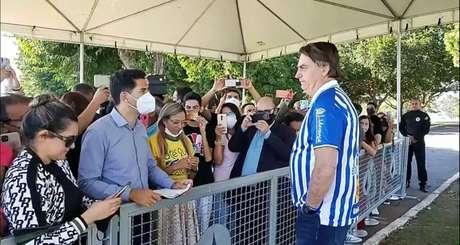 Presidente Jair Bolsonaro participou de encontro com evangélicos na manhã deste sábado, 8, em Brasília; evento foi transmitido em rede social.