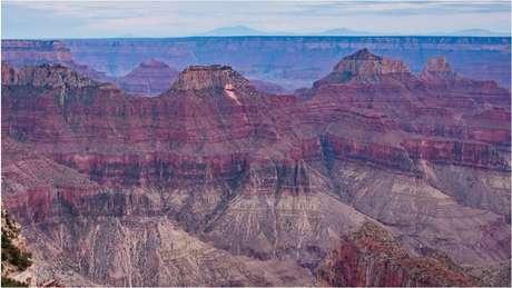 Vista aérea do Grand Canyon, no Estado americano do Arizona
