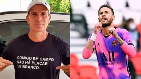 Túlio deu conselho para Neymar (Montagem LANCE!)