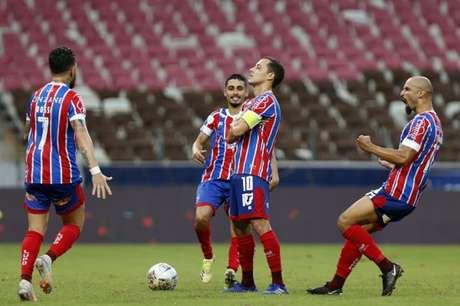 Rodriguinho foi autor de um dos gols no jogo, além de ter convertido sua cobrança na decisão (Foto: Felipe Oliveira / EC Bahia)