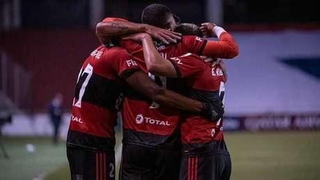 Flamengo marcou 15 gols nos últimos cinco jogos (Foto: Alexandre Vidal/Flamengo)