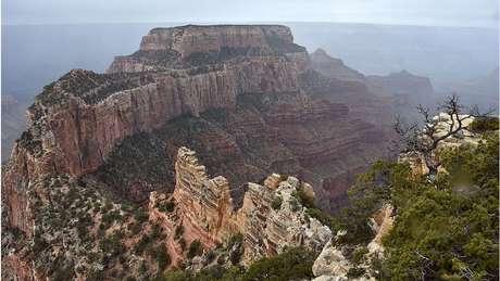 North Rim, área do Grand Canyon, é conhecida pelo terreno acidentado