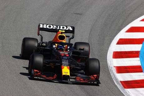 Sergio Pérez ficou apenas com a oitava posição no grid