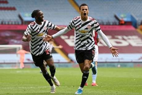Manchester United venceu Aston Villa por 3 a 1 (SHAUN BOTTERILL / POOL / AFP)