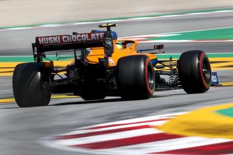 Lando Norris foi o oitavo do GP da Espanha, duas posições abaixo de Ricciardo