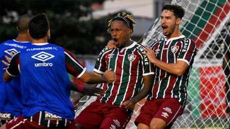 Abel Hernández marcou o gol de empate no jogo de ida da semifinal (Foto: MAILSON SANTANA/FLUMINENSE FC)