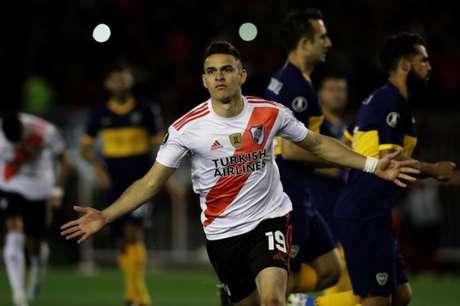 Borré é um dos principais atletas do time de Marcelo Gallardo (AFP)
