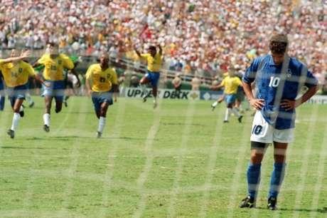 Roberto Baggio se lamenta até os dias atuais da Copa do Mundo de 1994 (Omar Torres / AFP)