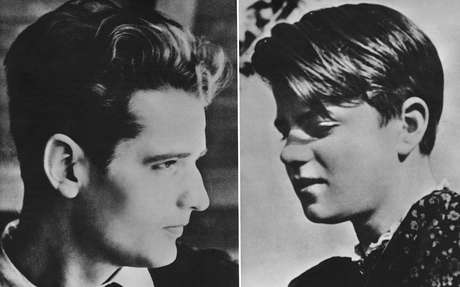 Esta foto mostra Hans e Sophie Scholl como estudantes por volta de 1940