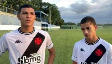 Marcos Paulo e Gabriel Paz marcaram (Reprodução/Vasco Base)