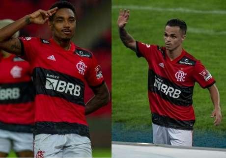 Vitinho e Michael marcaram neste sábado (Fotos: Marcelo Cortes / Flamengo e Alexandre Vidal / Flamengo)