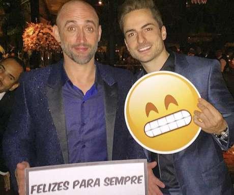 Paulo Gustavo e o marido Thales Bretas