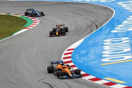 Daniel Ricciardo conseguiu um belo resultado e derrotou Lando Norris