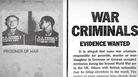 Na década de 1980, o governo britânico pediu informações sobre possíveis criminosos de guerra escondidos no Reino Unido