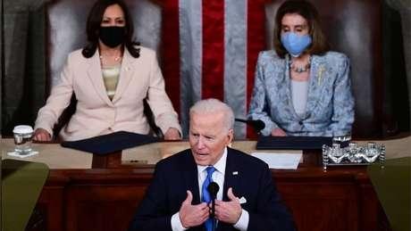 Biden discursa no Congresso para marcar seus 100 primeiros dias no cargo; propostas são arrojadas - e caras