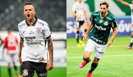 Luan e Matías Viña são destaque de Corinthians e Palmeiras, respectivamente, no Paulista (Rodrigo Corsi/Paulistão)