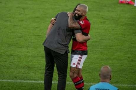 Ceni e Gabigol: relação de sucesso (Foto: Alexandre Vidal / Flamengo)
