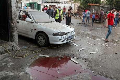 Cenário de uma das regiões atingidas pela nova onda de conflitos entre israelenses e palestinos