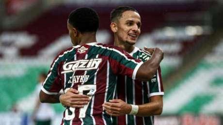 Gabriel Teixeira e Kayky brilharam na vitória do Fluminense neste domingo (Foto: Lucas Merçon/Fluminense)