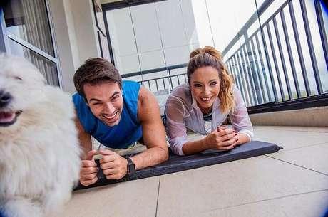 Leandro e Renata se consagraram como o 'casal power'. Crédito: Instagram/@re_dominguez