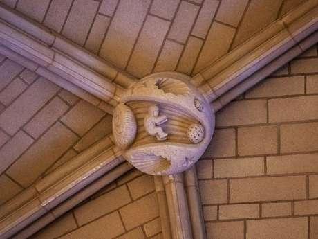 Parte do teto da Catedral Nacional de Washington.