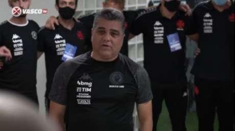 Marcelo Cabo parabenizou a equipe pela classificação para a final da Taça Rio (Reprodução/VascoTV)