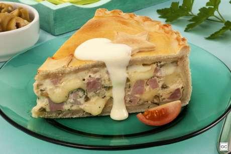 Guia da Cozinha - Empadão de presunto e queijo para o lanche da tarde