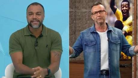 Denílson e Neto são companheiros de emissora (Reprodução)