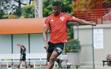 Orejuela ainda não estreou pelo Tricolor (Foto: Reprodução/ Twitter @SaoPauloFC)