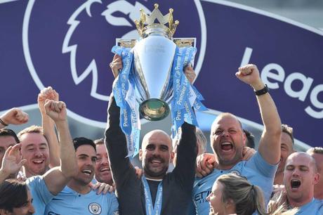 Guardiola venceu a sua terceira Premier League (Foto: GLYN KIRK / AFP)