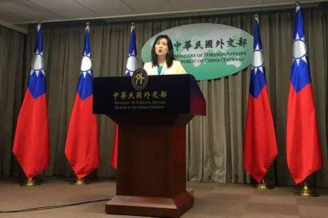 Porta-voz da chancelaria de Taiwan, Joanne Ou. 11/2/2020. REUTERS/Ben Blanchard