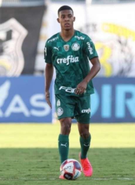 Vanderlan em ação diante da Ponte Preta (Foto: Cesar Greco/Palmeiras)