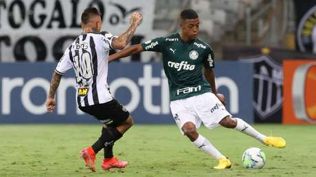 Vanderlan em ação pelo Palmeiras diante do Atlético-MG, pelo Brasileirão de 2020 (Foto: Cesar Greco/Palmeiras)
