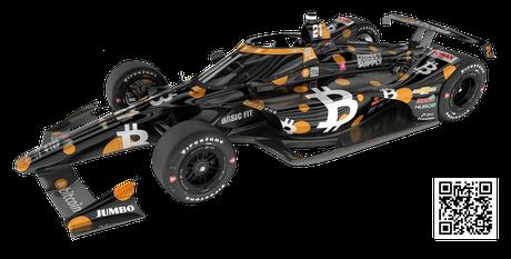 Carro de Rinus Veekay para a Indy 500 de 2021.