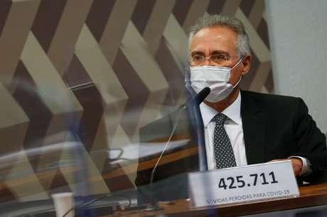 Relator da CPI da Covid, Renan Calheiros 12/05/2021 REUTERS/Adriano Machado