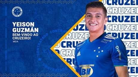 Guzmán foi anunciado como reforço no mês de abril, mas o jogador não quis se apresentar ao time azul-(Divulgação/Cruzeiro)
