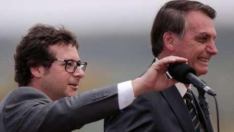 Wajngarten (esq.) era um interlocutor bem próximo a Bolsonaro