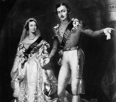 Rainha Vitória e príncipe Albert./ Reprodução.