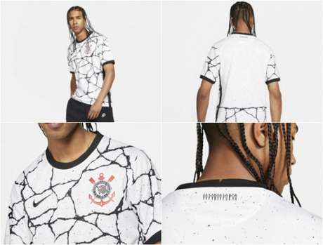 Nova camisa do Corinthians foi divulgada pelo site oficial da Nike (Foto: Montagem/Divulgação)