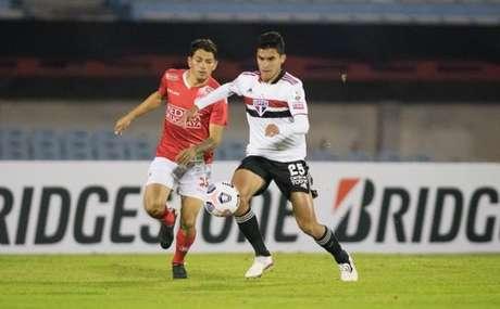 Rodrigo Nestor foi um dos titulares contra o Rentistas (Foto: Staff images /CONMEBOL)