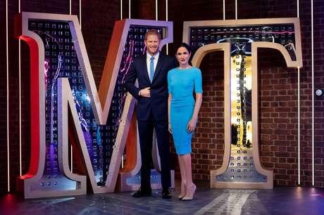 Estátuas de cera do príncipe britânico Harry e de sua esposa, Meghan, no museu Madame Tussauds, em Londres 12/05/2021 Madame Tussauds London/Divulgação via REUTERS