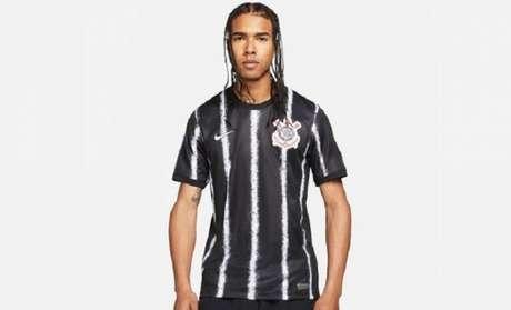 Fotos da suposta nova camisa 2 do Corinthians circularam na internet (Foto: Reprodução/Corinthians)